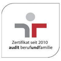 Zertifikat: Audit berufundfamilie (seit 2010)