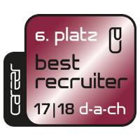 Zertifikat: Best Recruiter DACH 2017/18 (6.Platz)