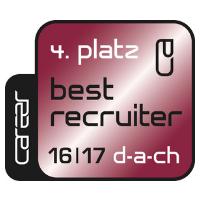 Zertifikat: Best Recruiter DACH 2016/17 (4.Platz)