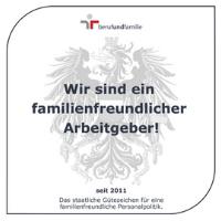 Zertifikat: Audit berufundfamilie (seit 2011)