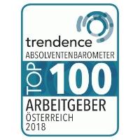 """Zertifikat """"trendence Top 100 Arbeitgeber, 2018"""""""