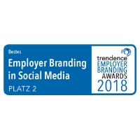 "Zertifikat ""trendence Employer Branding Awards 2018"""
